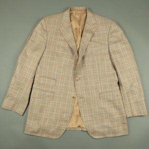 Caruso Loro Piana Silk Wool Linen Suit Jacket